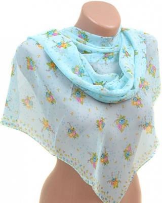 Нежный женский шарф 50 на 160 из легкого шифона 10112 P1