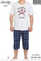 Костюм домашний мужской бриджи и футболка