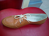 Туфли кожаные рыжие OLLI