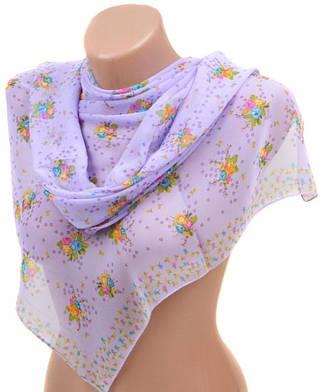 Благородный женский шарф 50 на 160 из легкого шифона 10112 P2