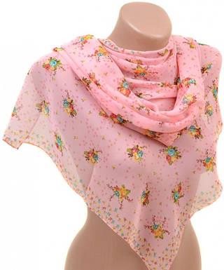 Романтичный женский шарф 50 на 160 из легкого шифона 10112 P3