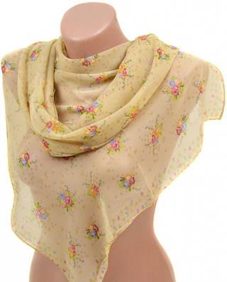 Очаровательный женский шарф 50 на 160 из легкого шифона 10112 P4