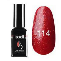 Гель-лак Коdi №114 (красный, насыщенный золотой слюдой), 7 мл