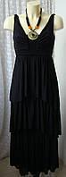 Платье женское нарядное коктейльное черное длинное бренд H&M р.40-42 6145а
