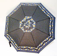 Зонт п/авт черный/синий