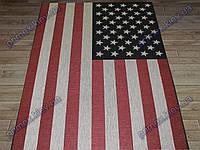 """Безворсовый ковер-рогожка """"Американский флаг"""""""