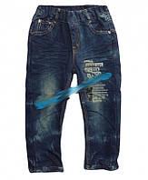 Модные джинсы для мальчика на флисе