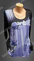 Красивая женская блуза декорированная стразами