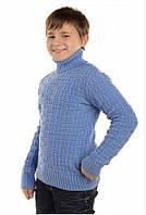 Детский теплый свитер для мальчика под горло