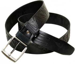 Потрясающий мужской кожаный ремень 1399-1 черный