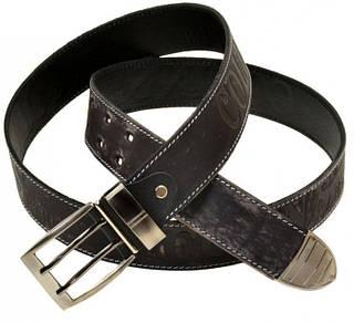 Удивительный мужской кожаный ремень 1187-1 black
