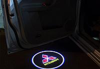 Подсветка дверей авто проектор логотипа автомобиля Mitsubishi