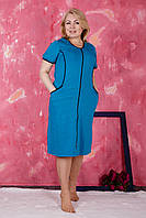 Трикотажный женский халат батал . Размеры 58-60.