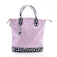 Женская лаковая сумка в горошек