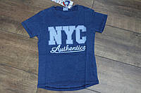 Футболка под- джинс - для мальчиков 4- 12 лет