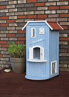 """Trixie TX-44091 дом для кота """"Cat's Home"""" (дерево) 56х94х59см, синий/белый"""