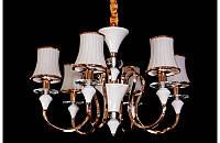 Люстра со стеклянными абажурами  на шесть ламп LS5459-6