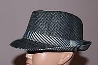 Шляпа детская - подросток. Черная полосатый кант