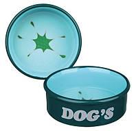 "Trixie TX-24488 миска""Dog's"" (керамика) 0,5л/15см"