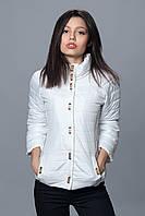 Женская демисезонная куртка. Код модели К-70-12-16. Цвет белый.