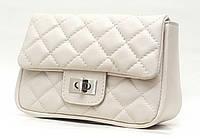 Элегантная сумочка Chanel из натуральной кожи, бежевая