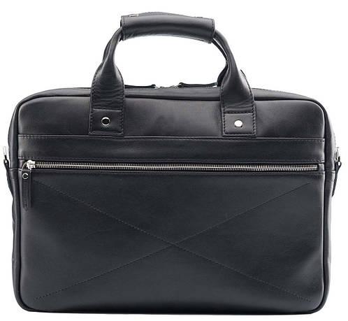 Практичная классическая черная мужская сумка BLAMONT Bn013A