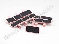 Таблички-прищепки, розовые, 6 шт., 5см×2,5см