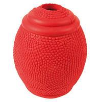 Trixie ТХ-3323 Снэк-мяч для регби, натуральный каучук 8см
