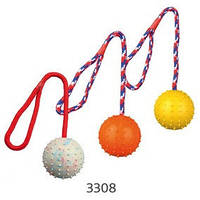 Trixie TX-3308 Мяч резиновый на веревке д7 см/30см