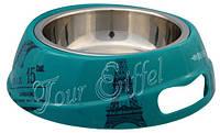 Trixie TX-25192 миска для собак Париж (сталь+меламин) 0,25 л / O 17 см