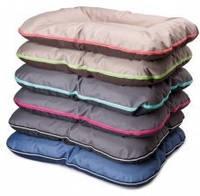 Лежак для собак двусторонний Comfy Arnold XXL 110x80 см, темн синий/синий/серебро (238212)