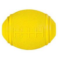 Trixie ТХ-3324 Снэк-мяч для регби, натуральный каучук 10см