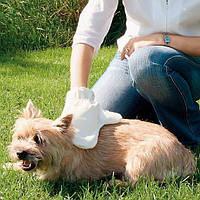 Trixie  TX-2335 Щетка массажная, для животных, 14х25 см (для правой руки)