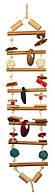 Trixie TX-58841 подвесной мостик для птиц (бамбук) 70см