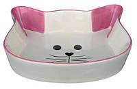 Trixie  TX-24494 миска в форме кошачьей мордочки (керамика) 0.25л/12см