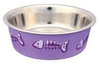 Trixie  TX-25270  миска для кошек с пластиковым покрытием 0,25 л / O 12 см
