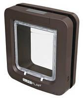"""Trixie  TX-38555 дверца-автомат для котов и мелких собак """"SureFlap"""" 26.2х28.1см,коричневый"""