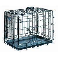 Papillon Клетка для собак с 2-мя дверьми черная 61*53*60см
