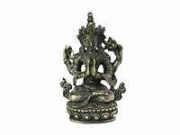 Статуя бронзовая - Ченрезиг (Авалокитешвара) 4,7 см