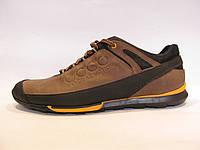 Кроссовки мужские кожаные, коричневые ECCO (еко)р.42,43,44