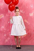 Платье с пышной юбкой в пастельном тоне