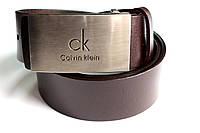 Брендовый коричневый ремень 'Calvin Klein'№2