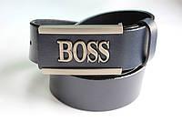 """Брендовый синий ремень """"Boss"""""""