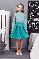 Оригинальное подростковое платье с пояском