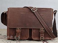 Модный, кожаный, мужской портфель