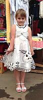 Нарядное платье-сарафан для девочек  Бант