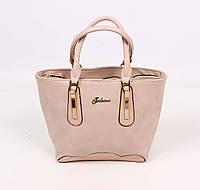 Классическая женская сумка, цвет кофе с молоком