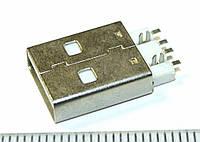 JC007 Штекер, вилка USB разъем питания 4pin папа для флешки, модема.