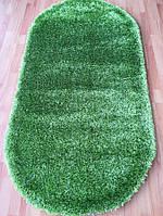 Пушистый ковер овальной формы зеленого цвета Liza Max