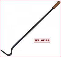 Кочерга с деревянной ручкой для печи и твердотопливного котла 0,6 м